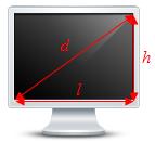 Calcul de la taille d'un écran