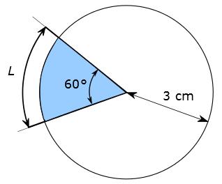 Aire d'un secteur circulaire - exemple